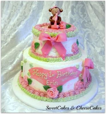 pink monkey cake