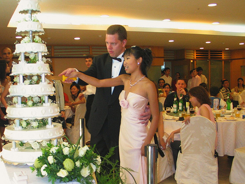 eight tiered wedding cake