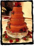 chooclate wedding cake
