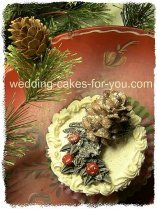 christmas decoration on a cupcake