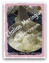 bowl of italian meringue buttercream