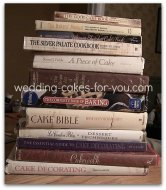 stack of baking books