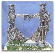 renaissance wedding cake topper