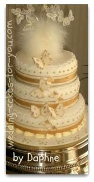 fondant butterfly wedding cake