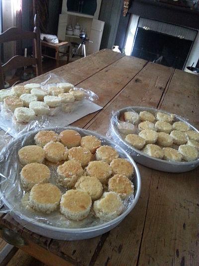 Mini cakes ready for the freezer