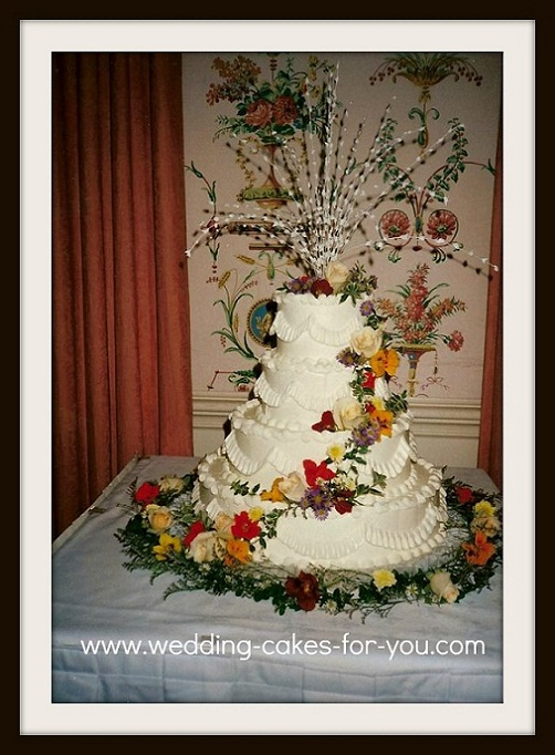Four tiered buttercream cake