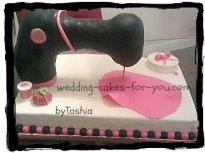 sewing machine cake
