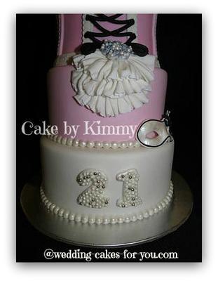 Tall 21st Birthday Cake
