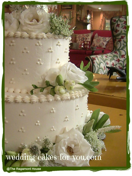 Dotted Swiss wedding cake