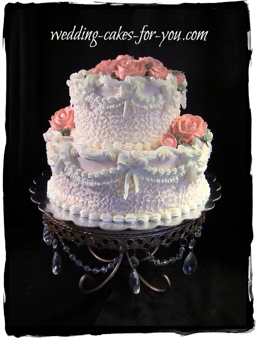 small Victorian wedding or birthday cake