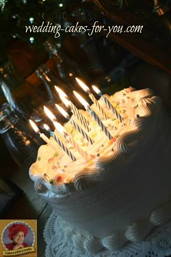 A Yellow Cake with Meringue Frosting