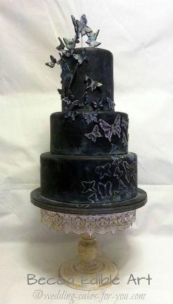 Halloween Wedding Cake by Beccas Edible Art