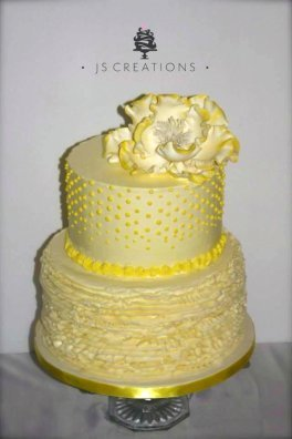 Small wedding cake by JS Creations