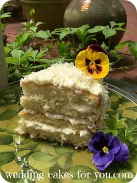 Slice of Tropical Coconut Cake