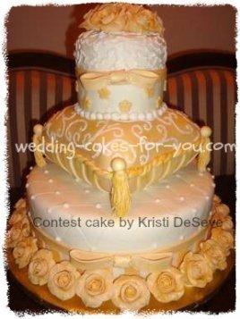 fondant pillow wedding cake