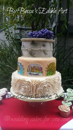 Whimsy cake by Becca's Edible Art