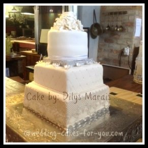 First Wedding cake by Dilys Marais