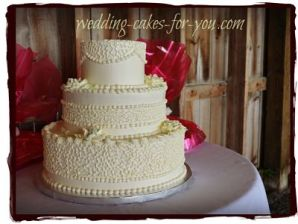 Country themed weddingc cake