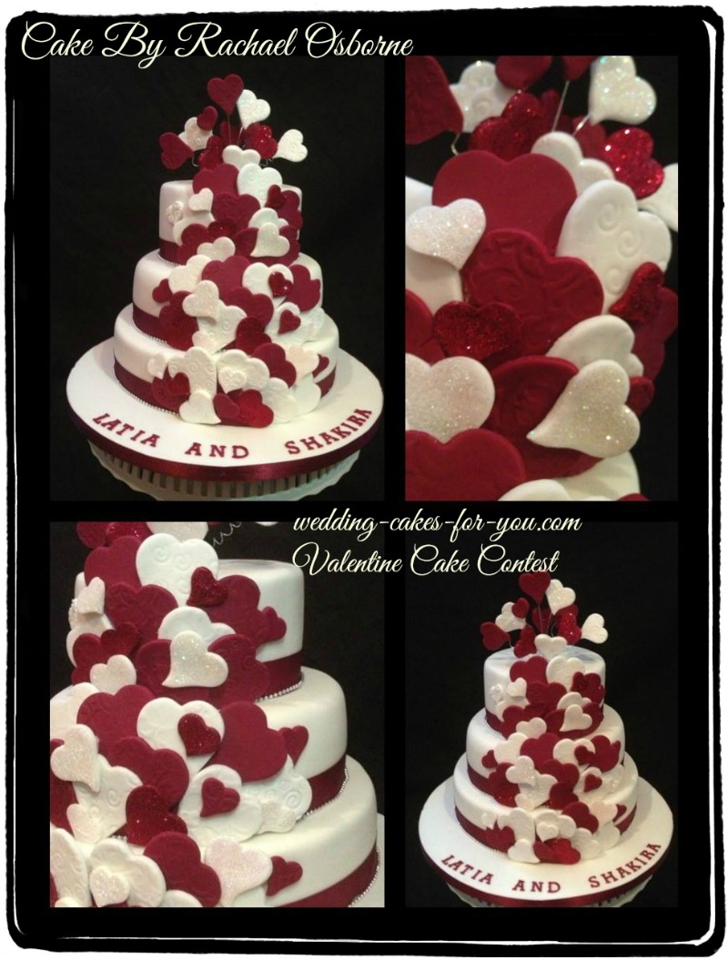 The Quintessential  Valentine wedding cake by Rachel Osborne