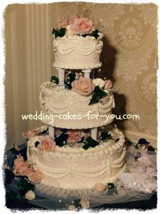 A victorian wedding cake