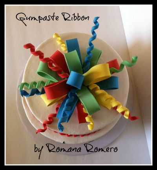 Gumpaste Ribbon by Romana Romero