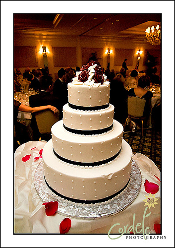 Black and white wedding cakes gallery black and white wedding cake junglespirit Gallery
