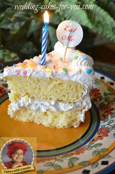 Slice of yellow cake