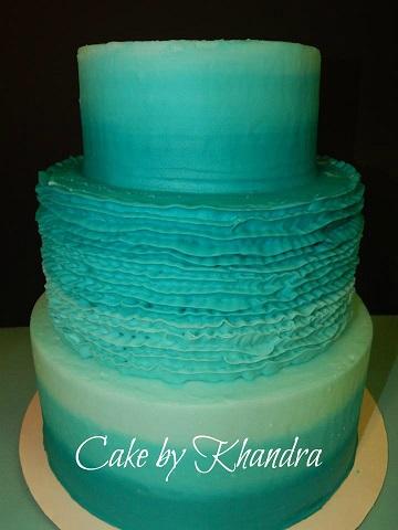 Ombre Rustic Wedding Cake by Eva Rivera