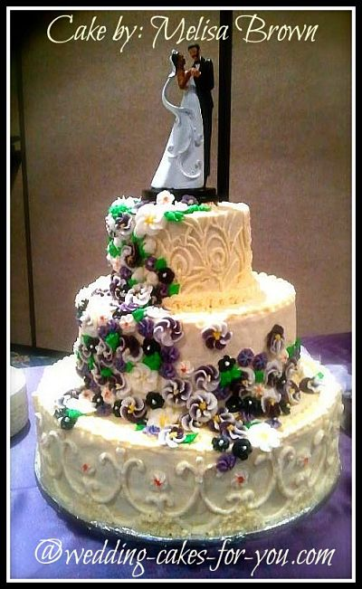 Luscious buttercream wedding cake by Melisa Brown