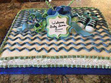 Sheet cake with a chevron design