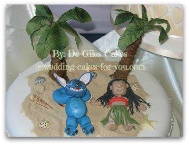 lilo and stitch wedding cake topper