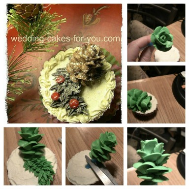 How To Make Cake Decoration Cone : Cheerful Christmas Cake Decorating Ideas And Luscious ...