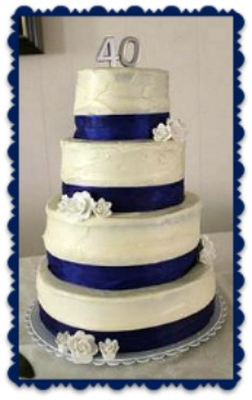 4oth wedding anniversary cake