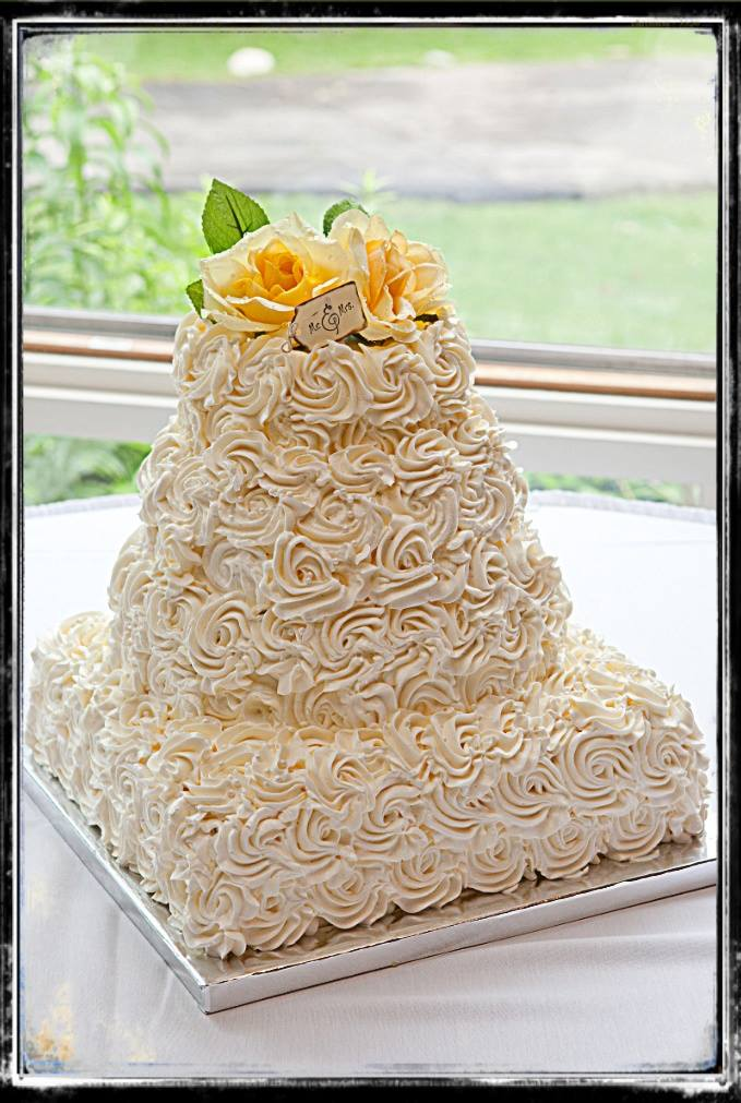 Rosette wedding cake by My Little Piece Of Cake