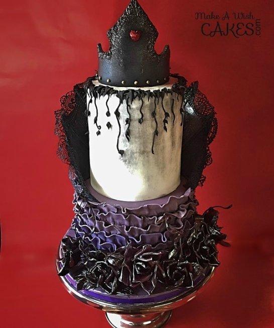 Halloween Gothic Style Wedding Cake