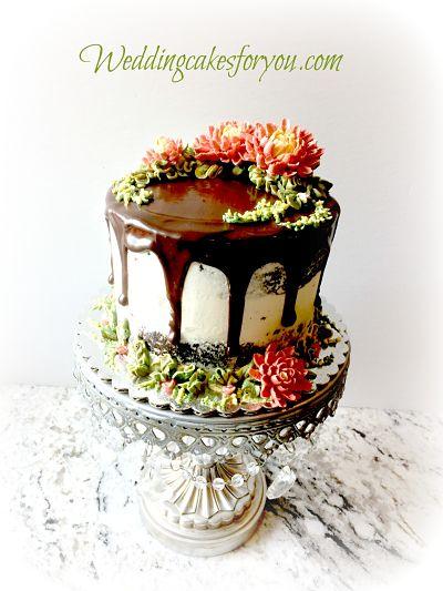fall cake design idea