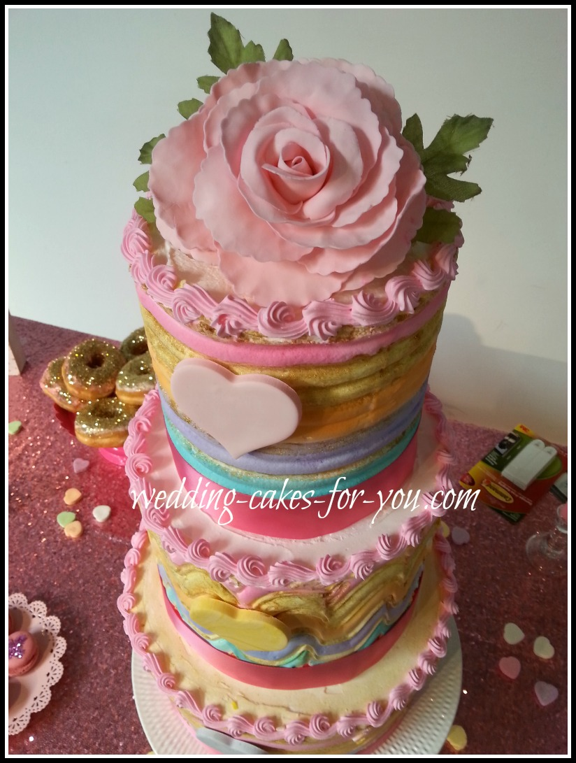 Heart Shaped Wedding Cakes And Valentine