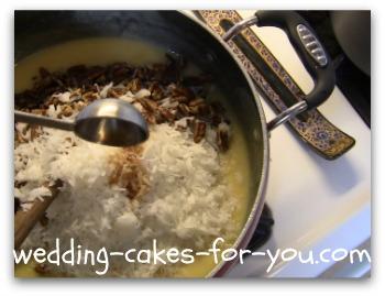Add Nuts Coconut And Vanilla