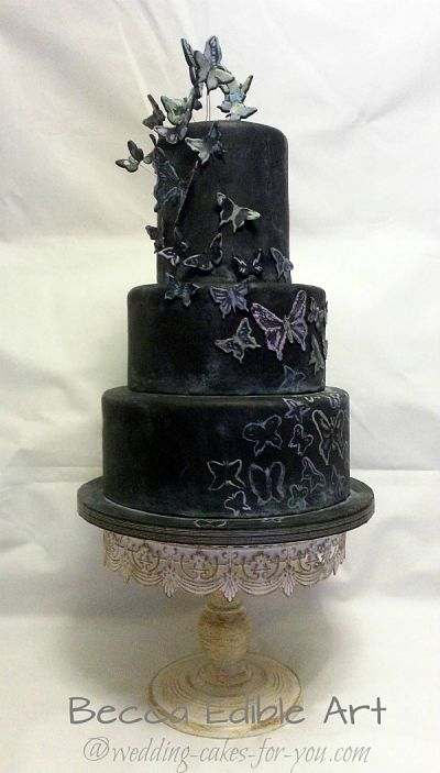 Halloween Wedding Cake by Beccas Edible Art
