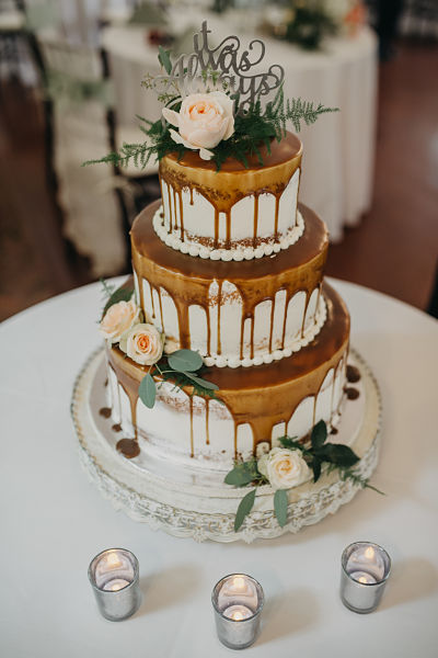 Rustic Heart Wedding Cake