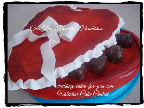 Chocolate heart box cake by Khandra Henderson