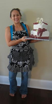 Sarah Scott owner and operator of Aloha Cakes And Cupcakes in her first prize Flirty Apron  :-)