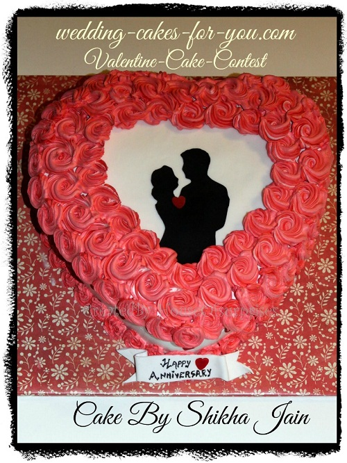 Beautiful heart cake by Shikha Jain