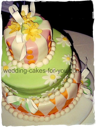 Lorelie's Whimsical wedding cake