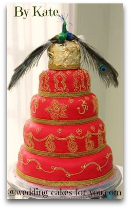 mehendi wedding cake