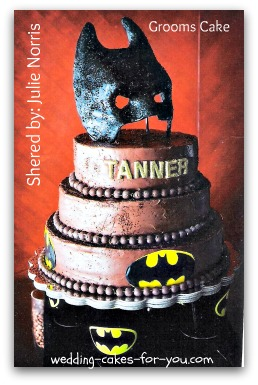 Batman themed grooms cake