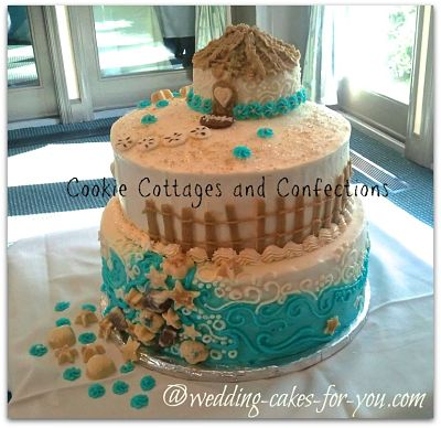 SeahShell Wedding Cake by Cookie Cottages and Confections