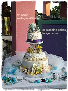 Nordy's Beach Wedding Cake