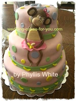 monkey cake for baby