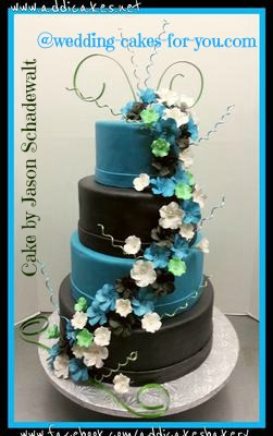 teal blue and brown wedding cakes wedding cake contest and page 20775
